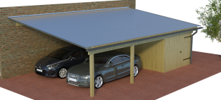 konfigurator doppelcarports mit abstellraum. Black Bedroom Furniture Sets. Home Design Ideas