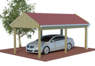 satteldachcarports carport mit satteldach spitzdach mit preis. Black Bedroom Furniture Sets. Home Design Ideas
