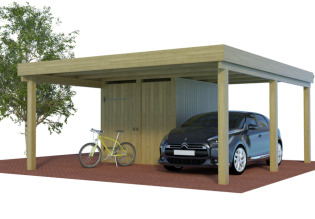 multi carports mit seitlichem abstellraum schuppen rechteck oder winkelcarport. Black Bedroom Furniture Sets. Home Design Ideas