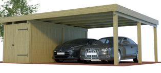 Konfigurator Doppelcarports mit Abstellraum