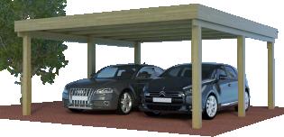 Multi-Carport als Doppelcarport