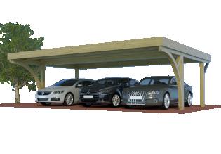 QUADRO-Bogen-Dreiercarports ohne Abstellraum/Schuppen