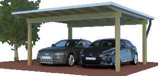 Quadro-Carport als Design-Doppelcarport